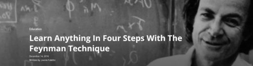 Learn Anything In Four Steps With The Feynman Technique
